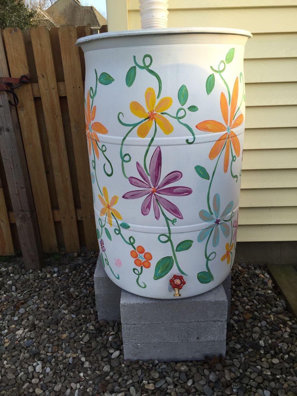 painted rain barrel home sweet home pinterest. Black Bedroom Furniture Sets. Home Design Ideas