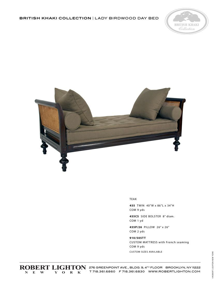 Robert Lighton British Khaki Collection Lady Birdwood Day Bed