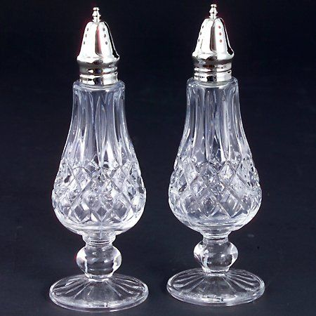 Crystal salt and pepper shakers by shannon by godinger 17 74 quality made by godinger