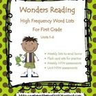 This High Frequency Word packet goes with the Wonders Reading Program for first grade.  These are the words for Start Smart and Units 1-6.  This is...