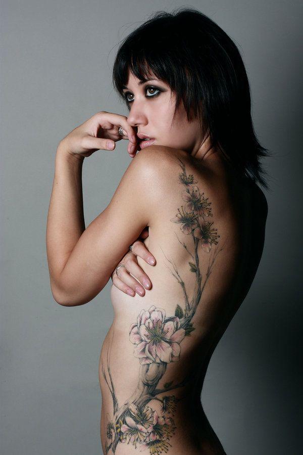 Rib Tattoo Girl