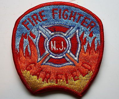 Garfield Nj Fire Fighter Patch Vintage Rescue Firefighting New Jersey Firefighter Patches Garfield