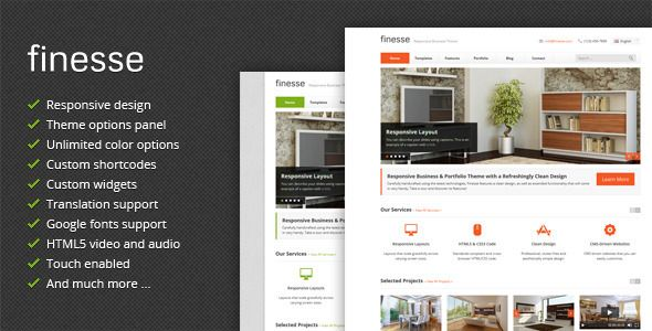 Finesse - Responsive Business WordPress Theme Download | ThemeForest ...
