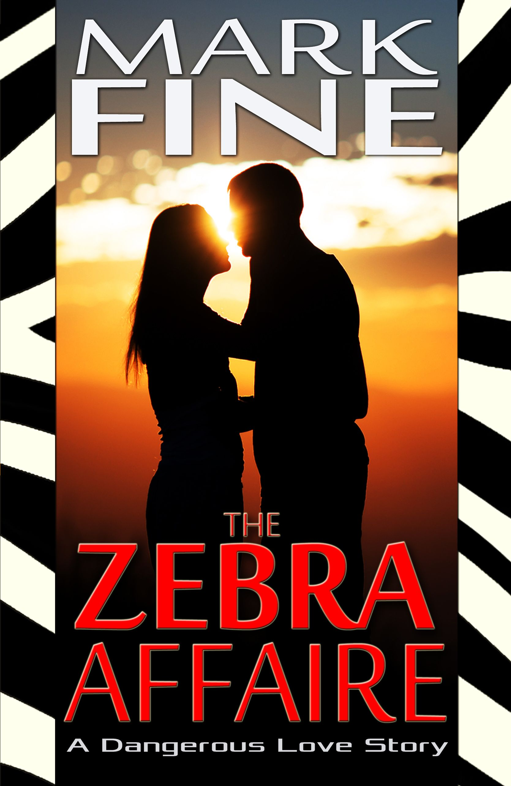 The process of designing a more romantic cover for THE ZEBRA AFFAIRE took several itterations. This is #1.