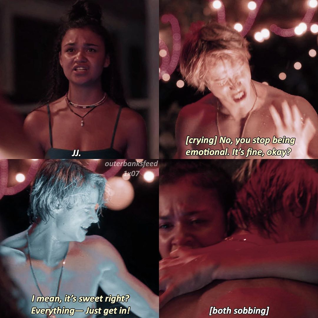 Outer Banks On Instagram 1x07 Dead Calm This Scene Breaks My Heart Jj Deserves The World Please Don T Repost Q N A In 2020 Pankow Outer Banks Bank Quotes
