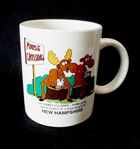 New Hampshire Coffee Mug Moose Crossing Tourists Mildred Funny Humor Cup 10 Oz Coffee Mug New Hampshire Moose Crossing Http Www Am Mugs Moose Mug Coffee Mugs