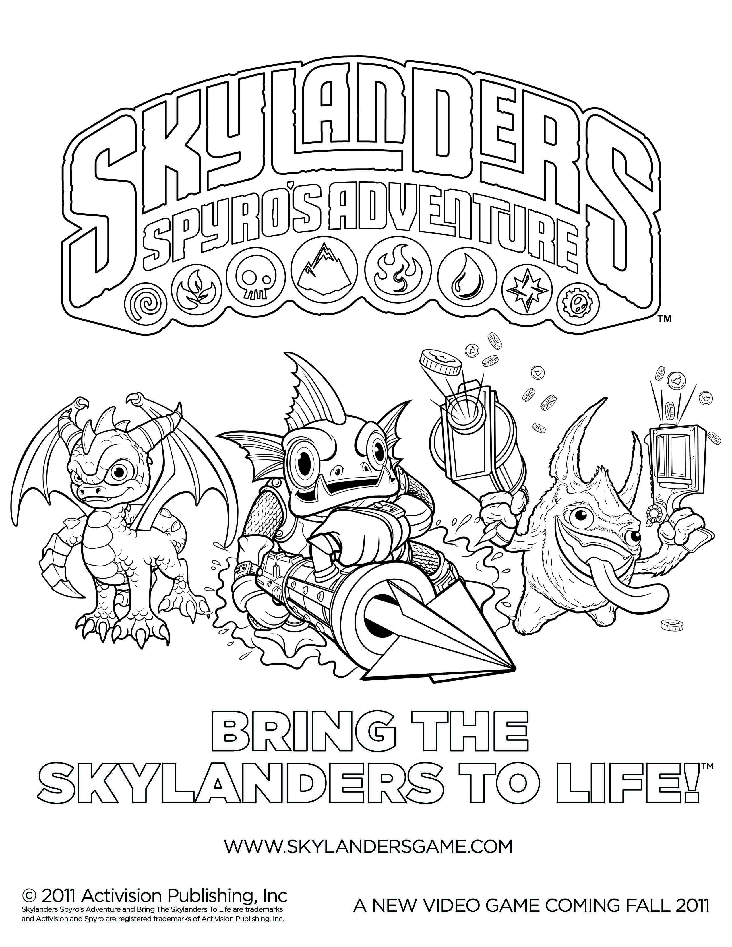 Skylanders Coloring Page Coloring Pages Skylanders Princess Coloring Pages