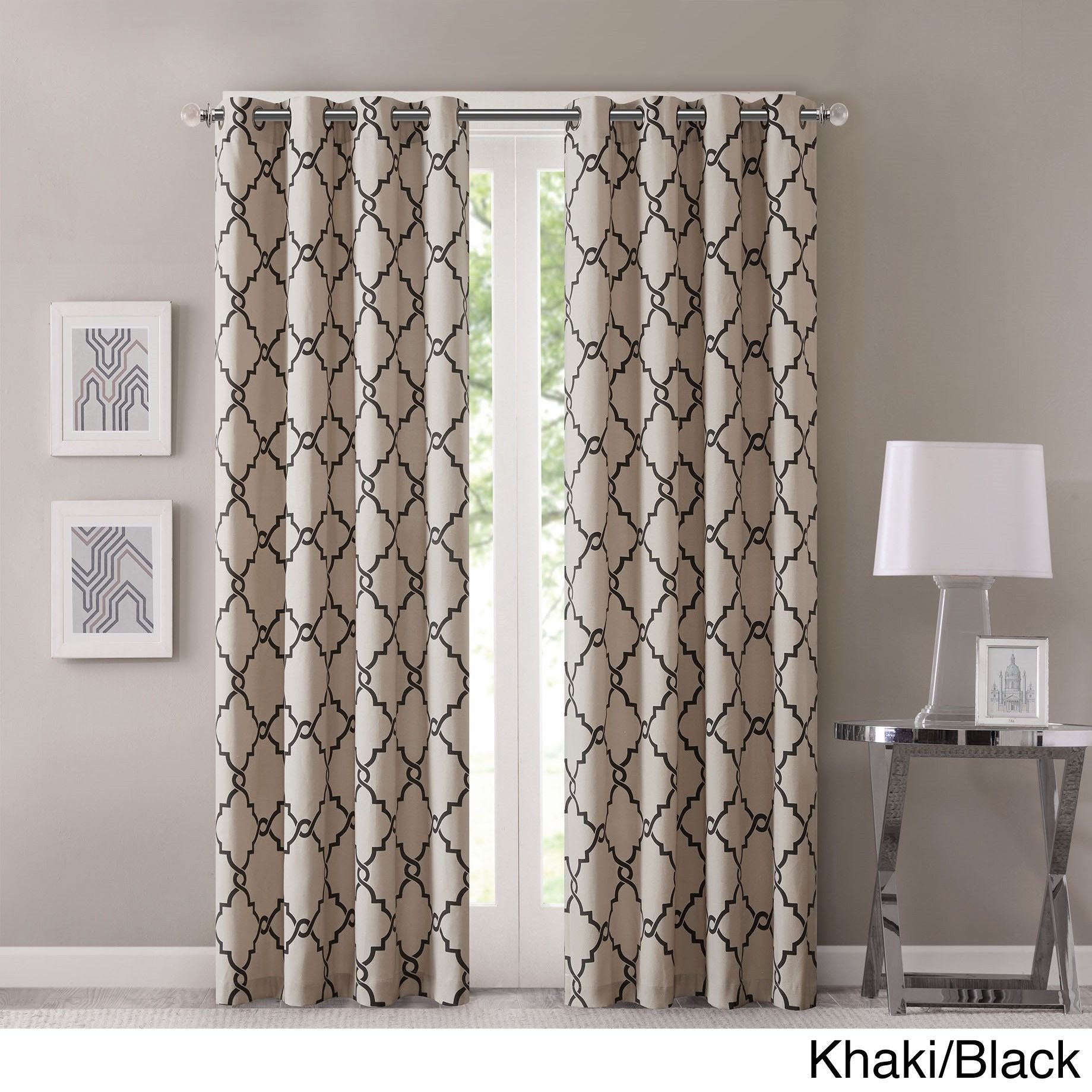 Geometric Patterned Curtains Madison Park Westmont Geometric Pattern Curtain Panel Single