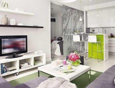 Decoración Interior de Apartamento 40 m2 Decoracion apartamentos