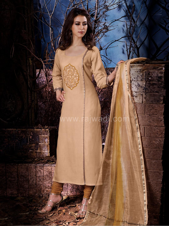 Cotton Office Wear Straight Churidar Suit  #rajwadi #embroidery #dress #ethnic #FeelRoyal #traditional #indowestern