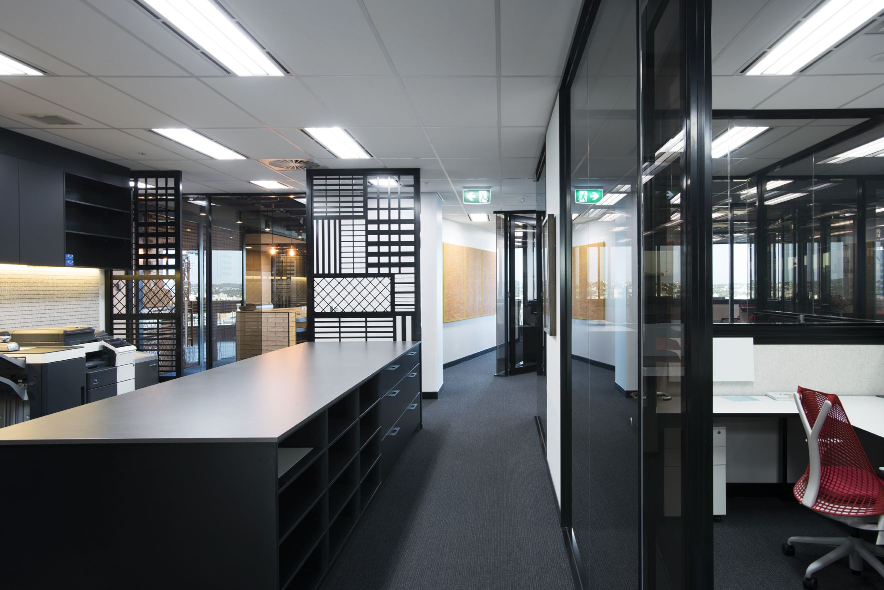 Redchip lawyers commercial office fitout interior for Office design brisbane