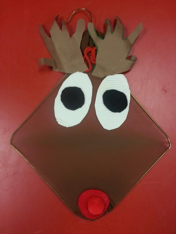 Coat hanger reindeer craft