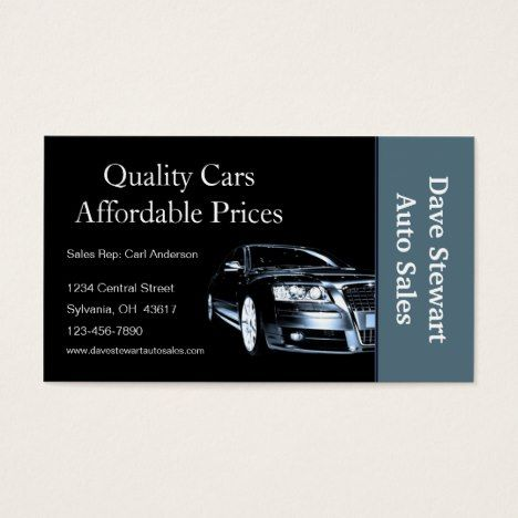 Used car dealer business card business reheart Image collections