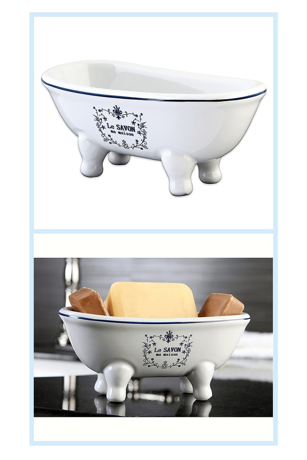 Kingston Brass Le Savon Ceramic Soapdish White - The Kingston Brass Le Savon Ceramic Soapdish is a petite clawfoot tub that will add a whimsical accent anywhere in the home. It's the ideal size to hold decorative soaps, jewelry, greenery, all your trinkets and treasures.