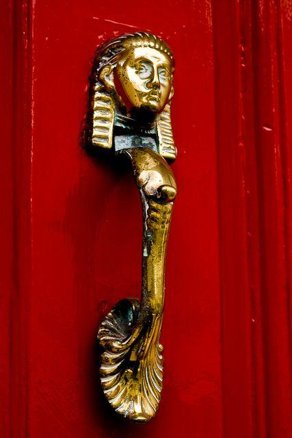Egyptian Style Door Knocker, Dublin, Ireland By Kealyj On Flickr