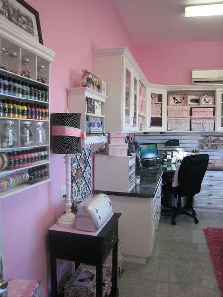 Scraproom My Pink Retreat Craft organization Pinterest
