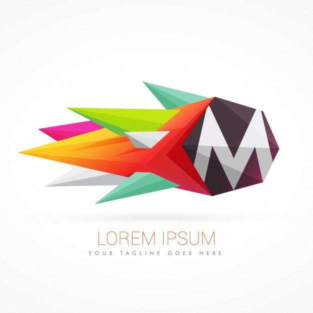 letra m origami
