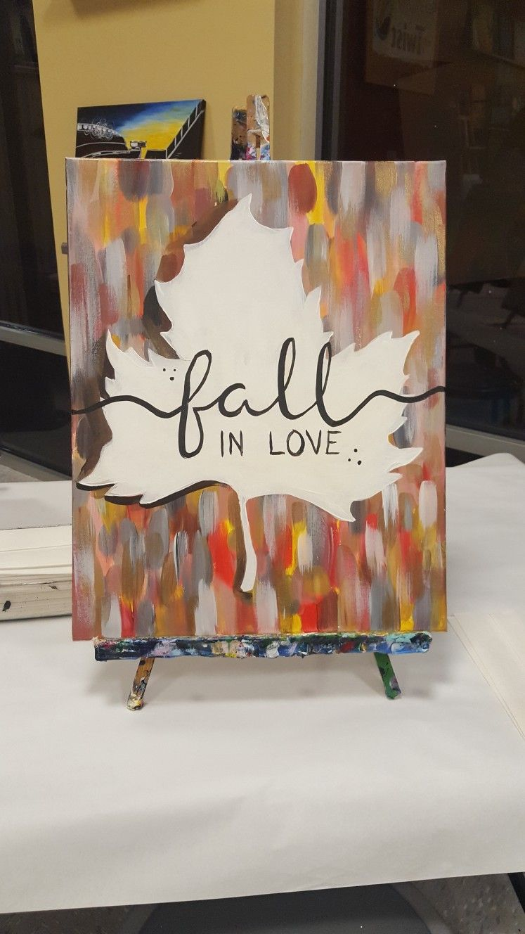 Fall in Love by Painting with a Twist Fall canvas