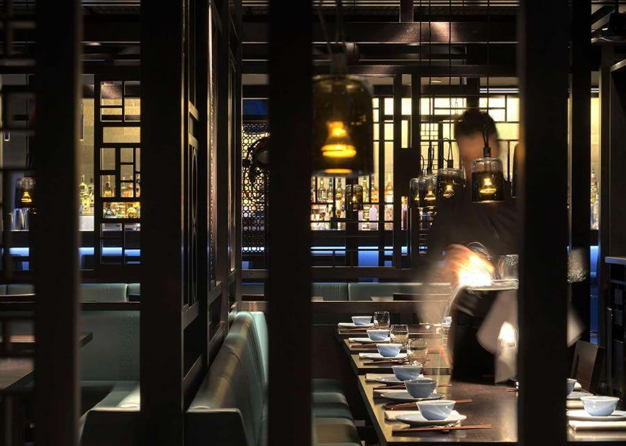 Luxury restaurant interior lighting design hakkasan