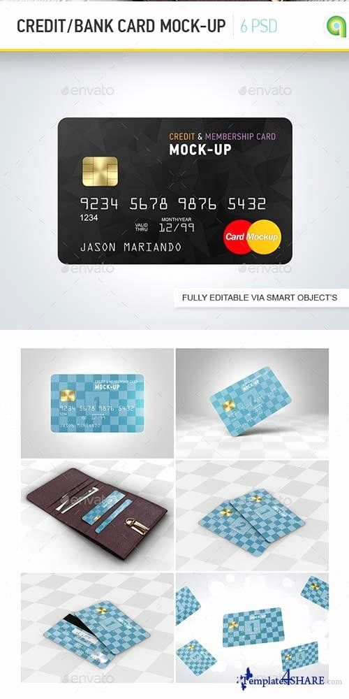 Credit Card Template Beautiful Graphicriver