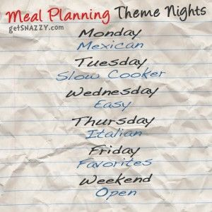 Meal Planning Theme Nights GetsnazzyCom  Fooood