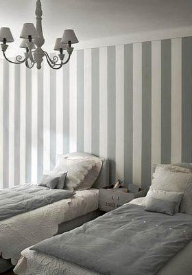 Sequined Sunsets Grey White Stripes Grey Striped Walls