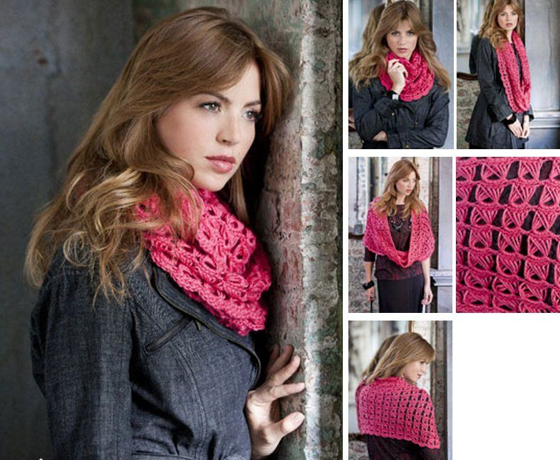Amaryllis Cowl Broomstick Lace Pattern | Broomstick Lace | Pinterest ...