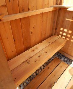 Custom Cedar Bench For Outdoor Shower Decking Outdoor