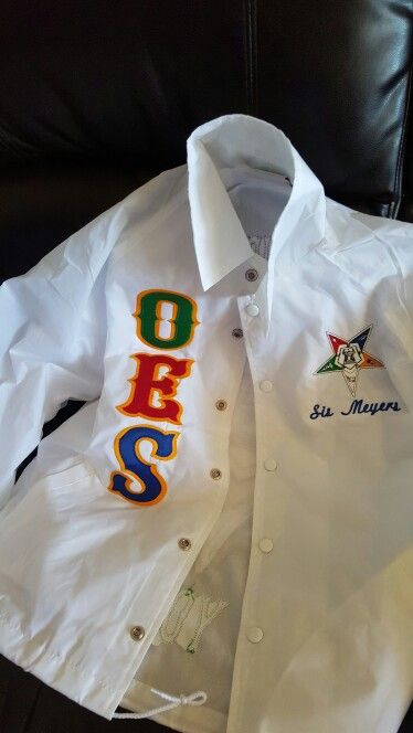 I Just Received My Customized O E S Jacket Love It Thanks To Bro T O College Crib Nashville T N Order Of The Eastern Star Varsity Jacket Eastern Star