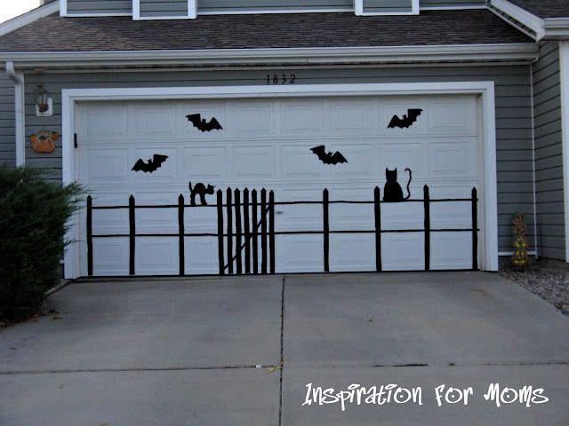 Eerie Outdoor Silhouettes Outdoor Halloween Halloween Garage