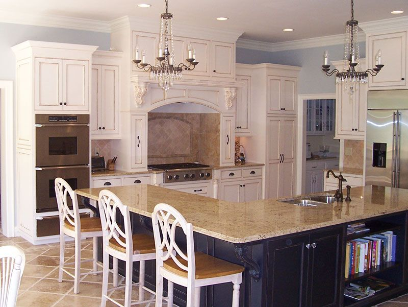 "An Oddly Shaped Kitchen Island: Another Option Would Be To Create An Island In An ""L"