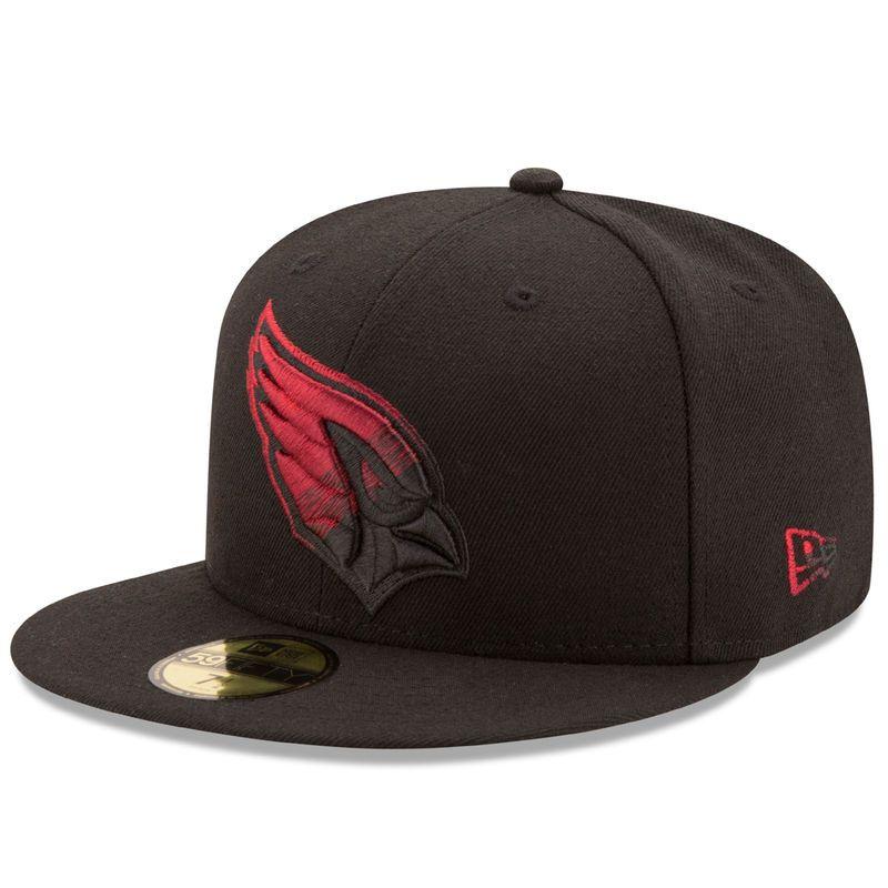 Arizona Cardinals New Era Color Dim 59fifty Fitted Hat Black Fitted Hats Hats For Men Cardinals Hat