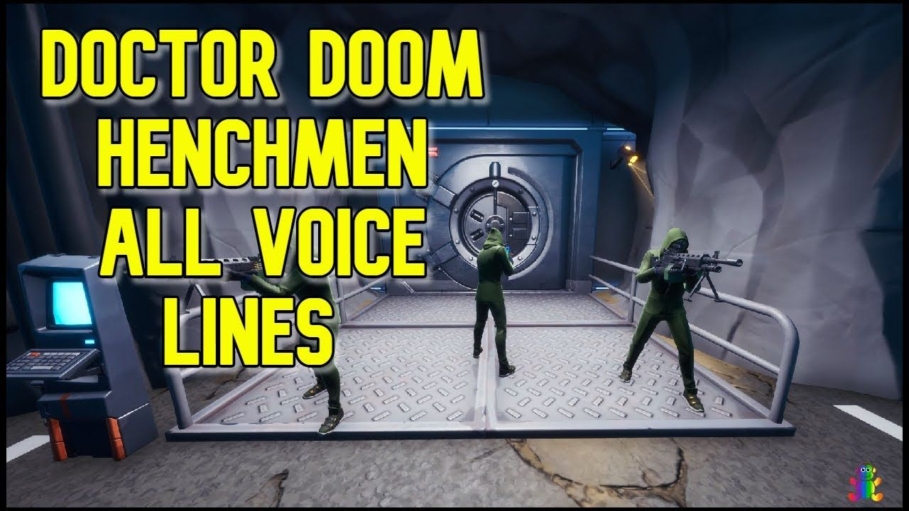Doctor Doom HENCHMEN all Voice Lines in Fortnite Season 4