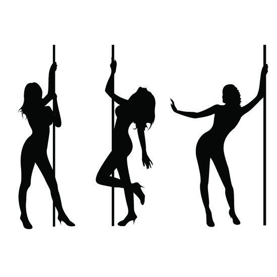 Download pole dance stencil #PoleDanceSilhouette (With images ...