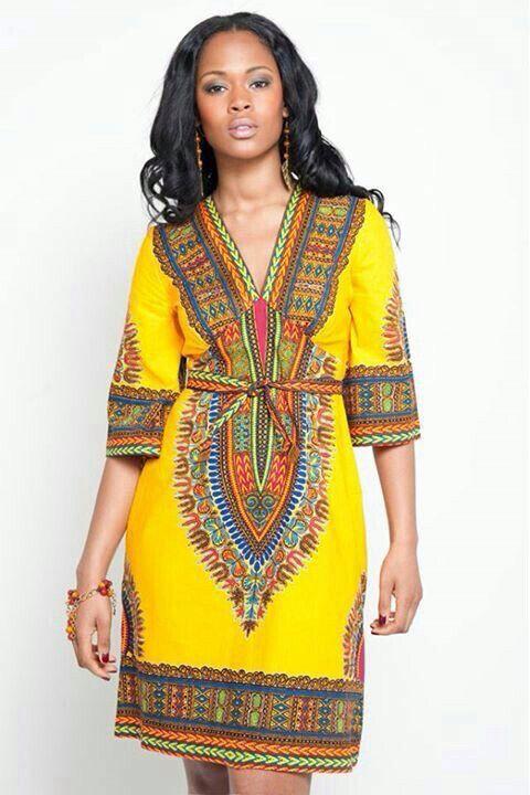 tissu africain dashiki