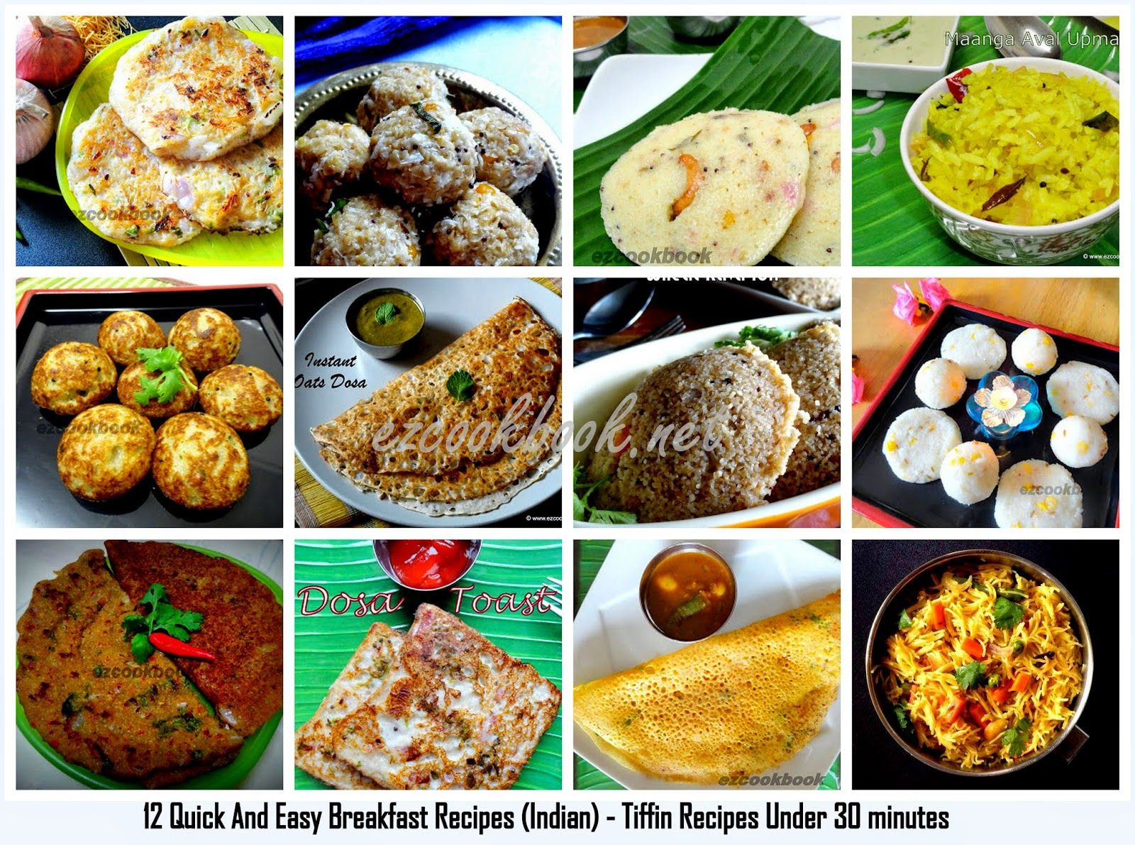Epingle Par Ezcookbook Gayu Ishi Sur Indian Breakfast Dinner Recipes