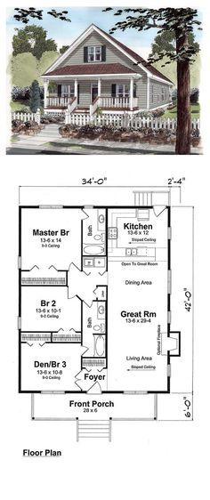 small-houses-plans-for-affordable-home-construction-22 - 25 - plan petite maison plain pied