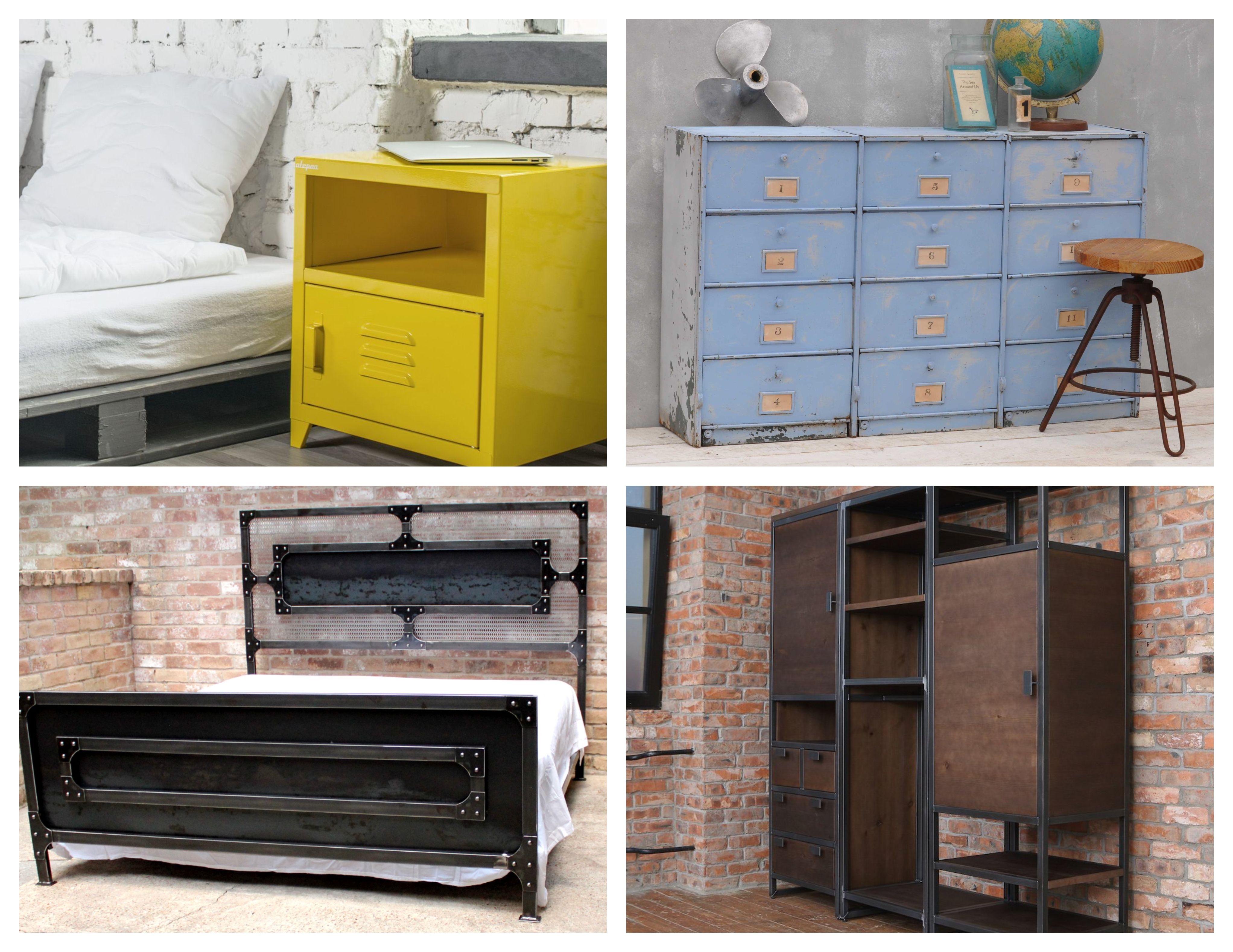 Commode Chambre Style Industriel ▷ 1001 + idées top pour décorer une chambre style
