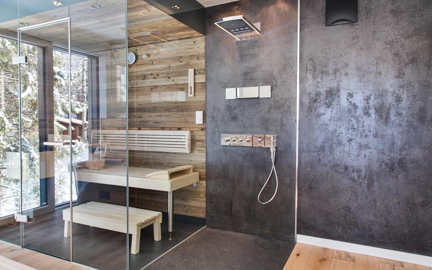 Badezimmer Sauna ~ Regendusche mit integrierter sauna badezimmer