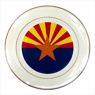 Arizona Porcelain Plate w/ Display Stand - American Home States (USA ...