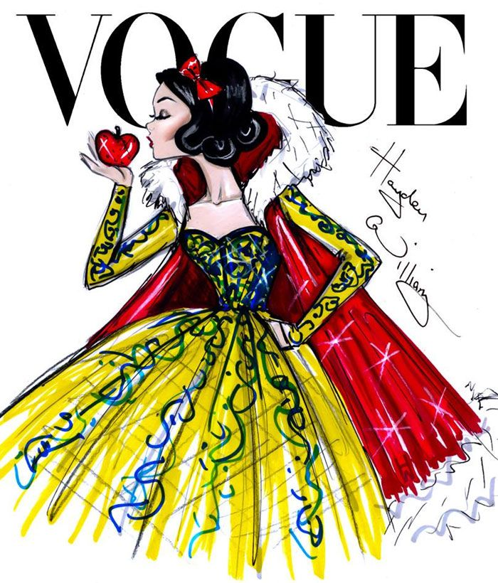 Capas de Vogue com as Princesas Disney #snowwhite