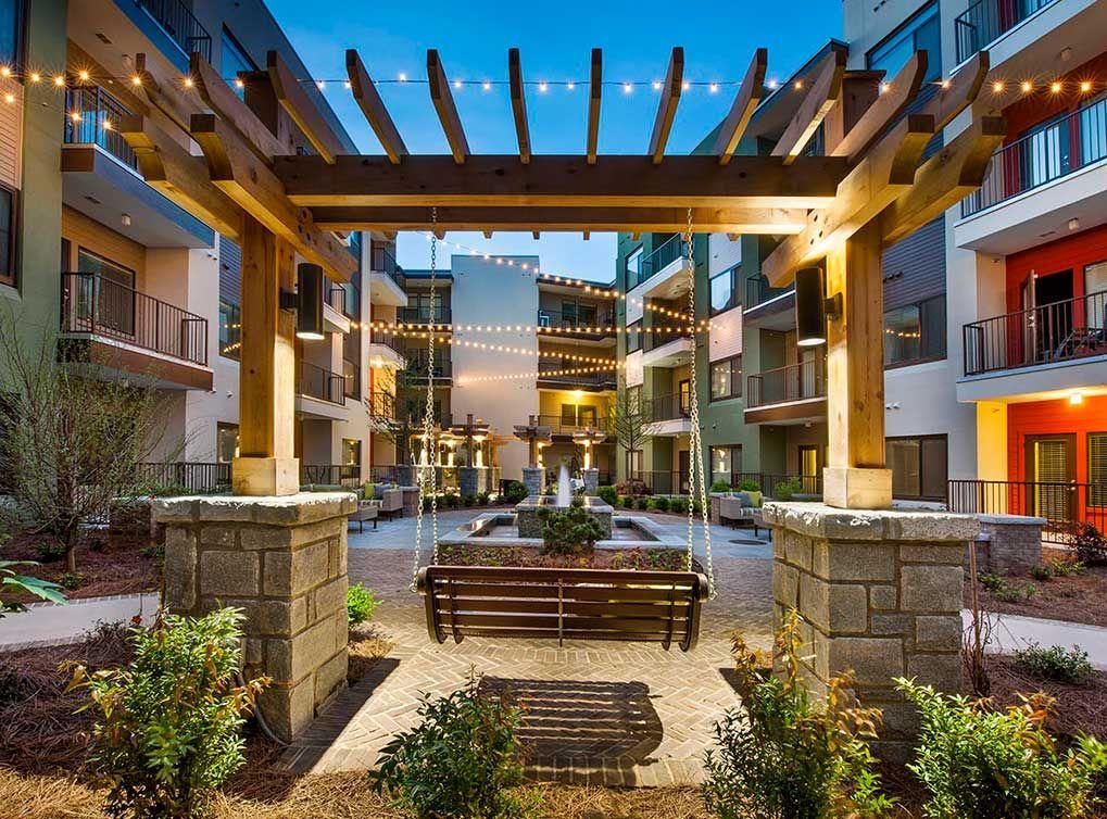 20 Small Amenity Courtyards Ideas Courtyard Garden On A Hill Bayview Hills
