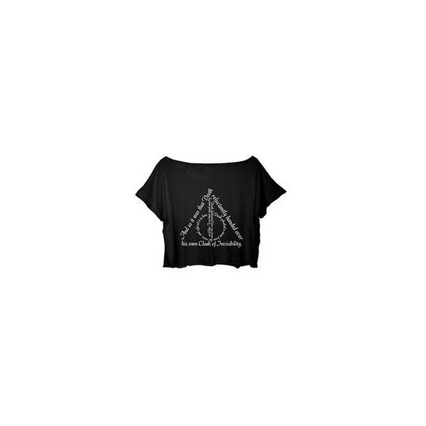 c6c43b9db ASA Women's Crop Top Harry Potter Quotes Shirt Chronicles the... ❤ liked on Polyvore  featuring tops, t-shirts, t shirt, crop t shirt, shirt top, cropped ...