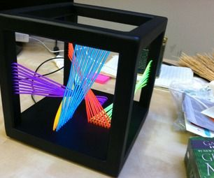 EL Wire Cube Sculpture | Maybe... | Pinterest