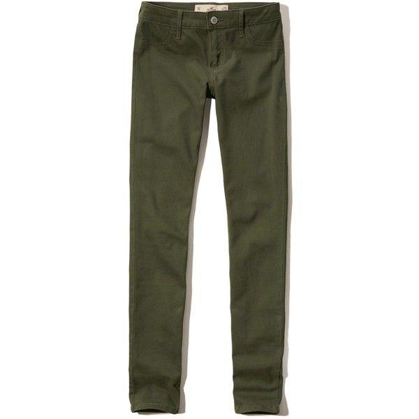hollister green jeans