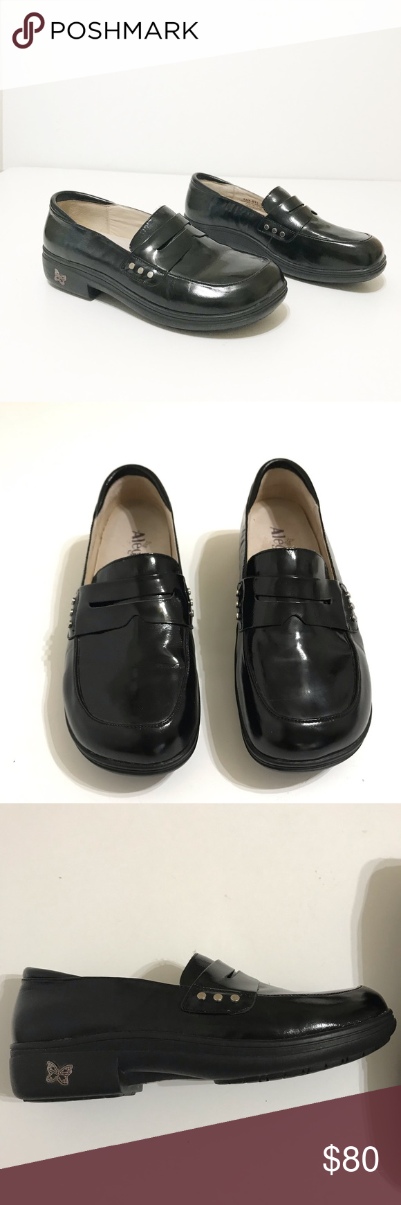 eebbacf90e6 Alegria Taylor Black Waxy Loafer Size 40 Alegria Taylor Black Waxy Loafer  Line New Condition Size