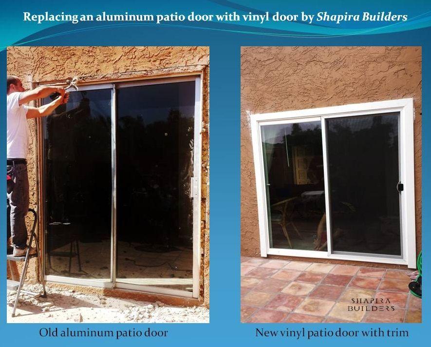 Replacement Of Aluminum Patio Door With Vinyl Door Aluminium Patio Doors Vinyl Doors Doors