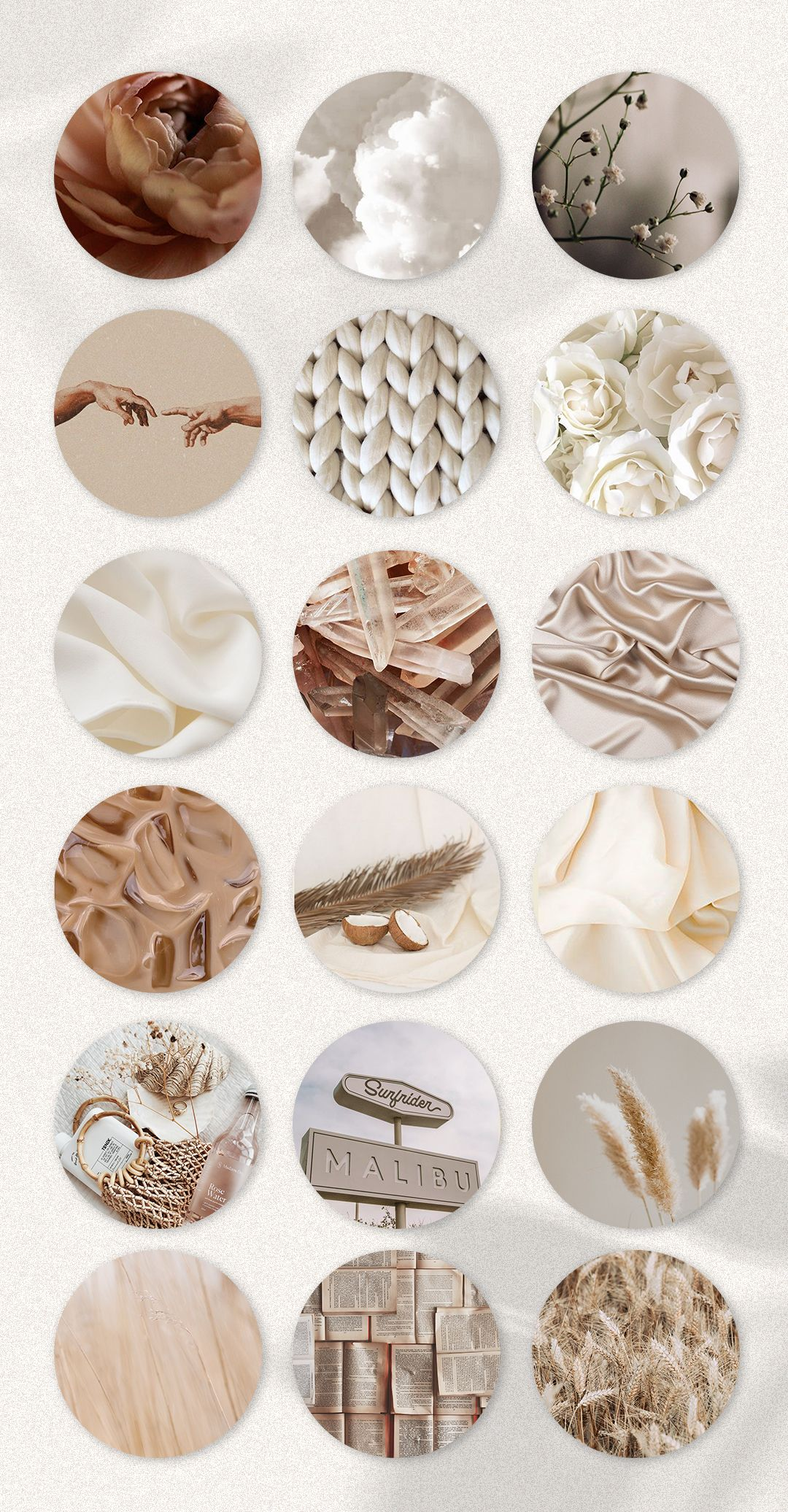 Boho aesthetiс Instagram Highlight Covers. Brown, story highlight & Beige Icons Texture Stories