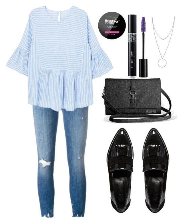 """Untitled #265"" by mylittlecrumpet ❤ liked on Polyvore featuring J Brand, MANGO, River Island, Avenue, Botkier, Maybelline and Christian Dior"