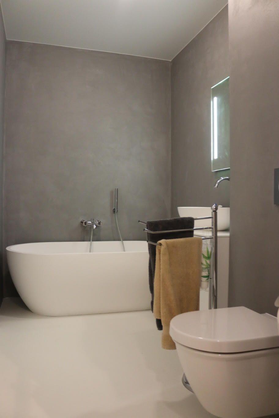 mur en b ton gris el phant salles de bains en b ton cir. Black Bedroom Furniture Sets. Home Design Ideas